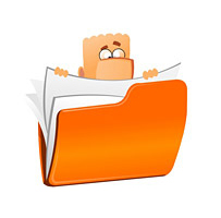 Businessman hold folder